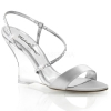 LOVELY-417 Silver Satin/Clear